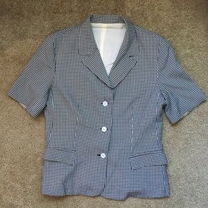 Vintage gingham suit jacket